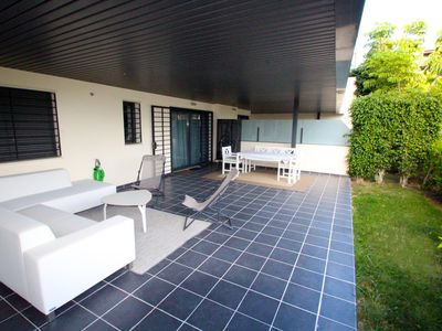 Photo for Stylish 2 BR Apartment with Large Patio, Los Flamingos