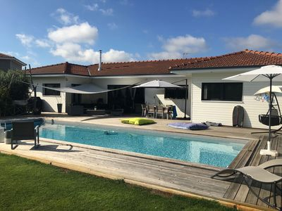 Photo for Villa LEGE CAP FERRET with pool near village - Pre