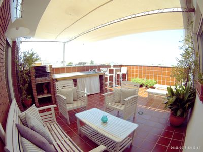 Photo for AMAZING VIEWS, METRO INFRONT TO CENTER, PRIVATE TERRACE & PARKING,BEST UBICATION