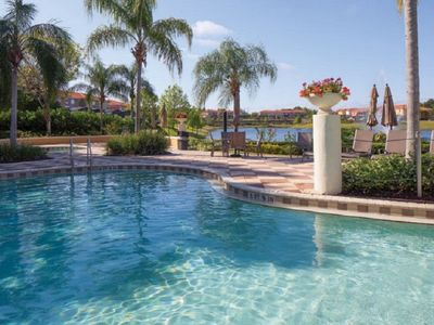 Photo for ***NEWLY UPGRADED 2019!  Private Pool - Lakefront - Gated Resort -Near DISNEY***