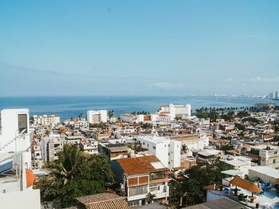 Photo for NEW. Soho Style Condo With Ocean Views in Downtown Puerto Vallarta
