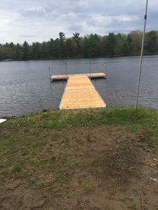 View of new dock - installed May 20, 2017
