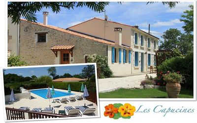 Photo for C18th Charentaise Farmhouse Gîte with Pool near La Rochelle, Ile de Re & Beaches