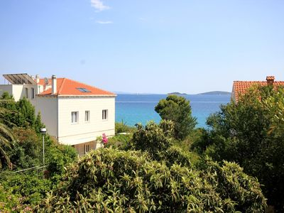 Photo for Two bedroom apartment with terrace and sea view Orebić, Pelješac (A-275-d)