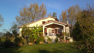 Photo for Villa Alberto, tranquil countryside btw Rome & Naples, stunning mountain views