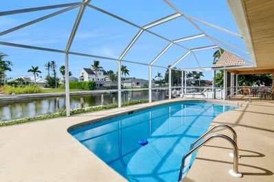 Enjoy gorgeous views of clear blue Marco Island skies from your own backyard!