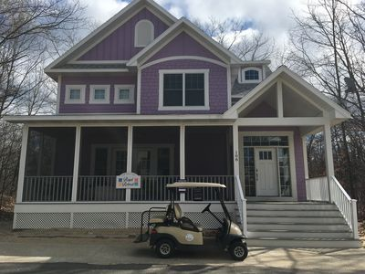 Beachwalk vacation home . 6 bedrooms plus a den.  Hot tub and golf cart.