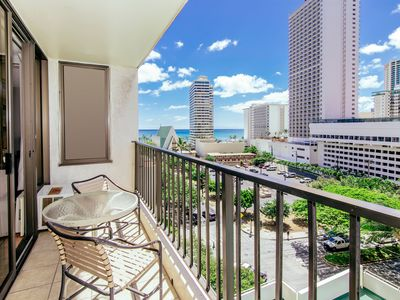 Photo for Tropical Retreat, 1BR Condo with Ocean & City Views, Parking and Full Kitchen