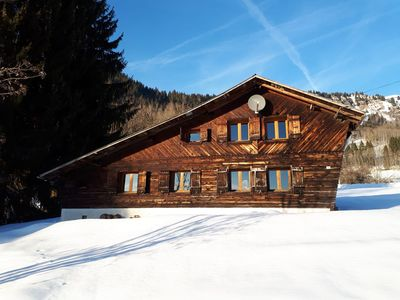 Photo for Charming Chalet with large south facing gardens and panoramic views