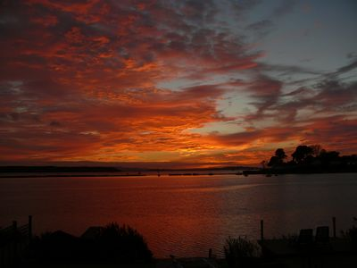 Photo for Sunset Cabin, Lilliput, Poole - On the edge of  Poole Harbour.