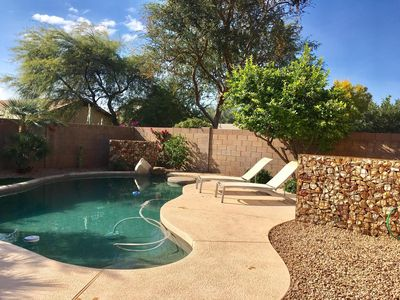 Photo for 3 Bedroom home, w/private heated pool - walk to Desert Ridge, newly remodeled.
