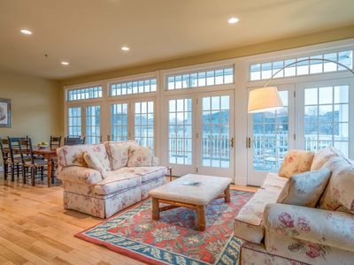 Photo for RARE FIND! Stunning Woodstock Getaway with Private Deck and Fireplaces