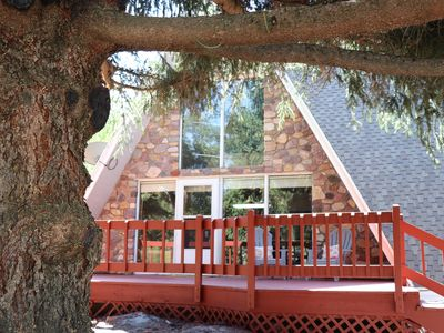 Photo for New Listing! Cozy Mountain Getaway. Beautifully Remodeled Cabin Sleeps 8.