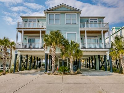 Photo for Porpoise Pad third row duplex with private pool in Garden City Beach