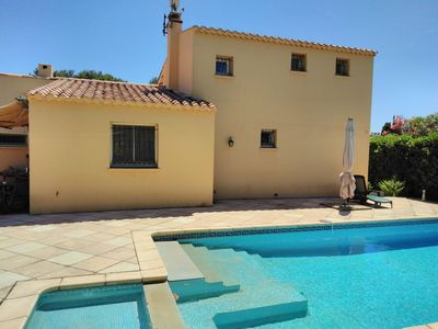 Photo for INDIVIDUAL VILLA WITH SWIMMING POOL IN THE PINEDE - CAP D'AGDE - ref: VILLA 020