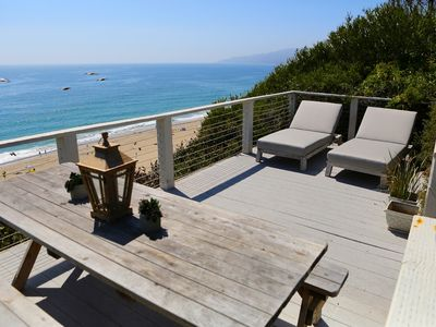 Photo for Beautiful 2 Bdrm Designer Beach House With A Garden On The Pt. Dume Bluffs