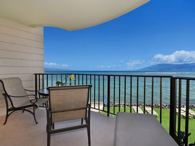 Photo for Kahana Reef 201 Beautiful Direct Ocean Views - Watch Whales and Turtles