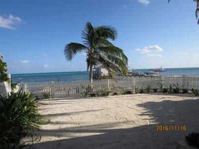 Photo for Quite beach front Condo easy walking distance to town.