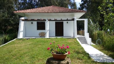 Photo for Beach House In Aghios Andreas, direct access to sea, lg veranda, garden, wifi.