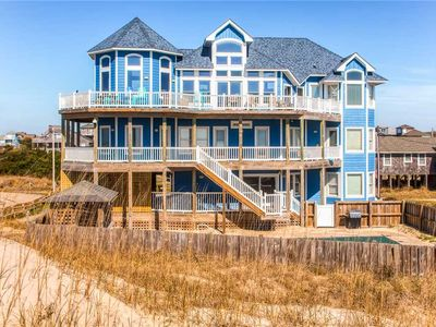 Photo for Oceanfront Getaway Frisco w/ Easy Beach Access, Pool, Hot Tub, Elevator, Game Rm