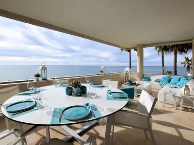 Photo for Luxury and beautiful apartment right on the sea front at Estepona