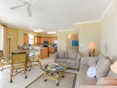 Photo for Stunning 3rd Floor Unit with Beach Ambience! Awesome Lagoon Pool, Fitness Center, and Tennis Courts!