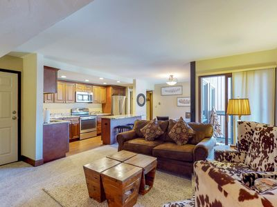 Photo for Classy condo w/ shared hot tubs, shared pool, & onsite golf - easy slope access!