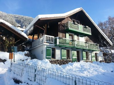 Photo for Beautiful traditional chalet (1920) in the heart of St Gervais Mont Blanc