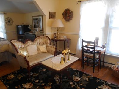 Photo for B&B with lake views in the Village! French Yellow room/Lake Valley Legends, B&B