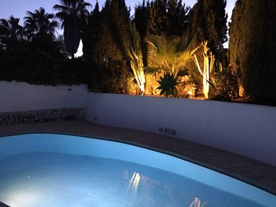 Beautiful private floodlit pool , ( gated ) in a peaceful Picturesque setting