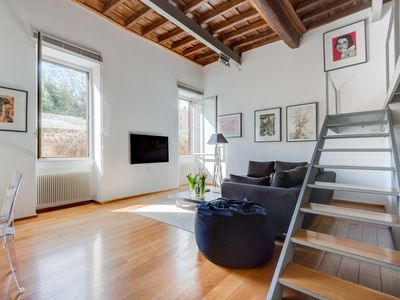 Photo for Trastevere Luxury Loft, unique, modern and with an Italian art gallery