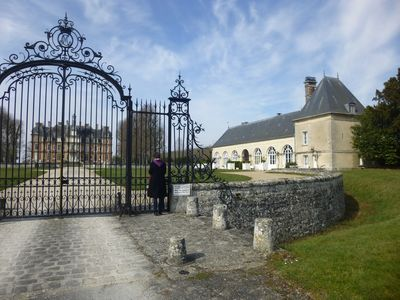 The Orangery is to the right of the main Chateau.