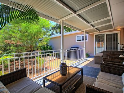 Photo for Gorgeous Outdoor Entertaining - 2 Minute Walk to the Beach