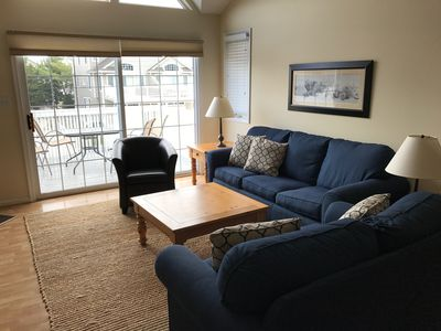 Family room.  Furniture is one year old. Pull out sofa to queen bed