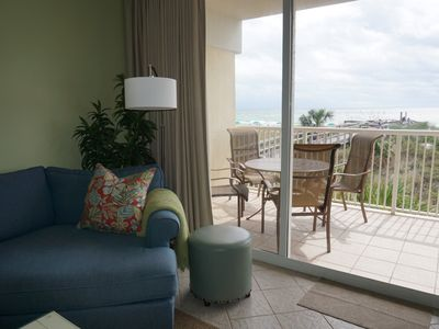 Photo for July 25th week just opened  DIRECTLY on the Beach! 3BR and wrap around balcony.