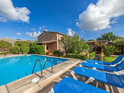 Photo for Stone-villa with garden and pool - Villa Can Bandera