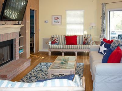 Photo for Lovely three-bedroom duplex townhouse with a screened-in porch within walking distance to the beach