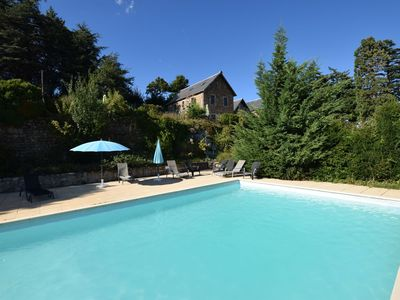 Photo for Former coach house in a castle with park garden, swimming pool in North Ardeche