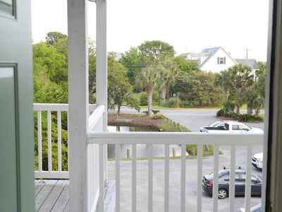 """entry way for """"Sunspot"""" Catch the ocean breeze from this deck!"""