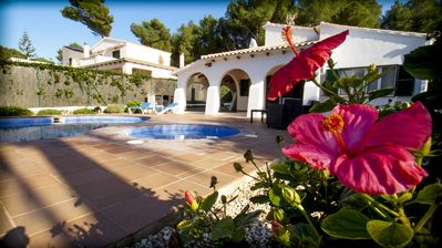 Photo for Detached villa with own privated pool and jacuzzi, 4 bedrooms (8 sleeps )