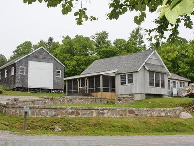 main house and barn viewed from Harbor Road