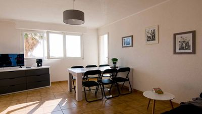 Photo for apartment located in quiet and secure residence on the ground floor with balcony