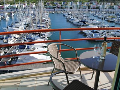 Photo for Frontline Two Bed Marina Apartment, Shared Pool & Great Views Of Marina & Sea