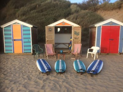 The Second Home..Beach hut at Saunton Sands with surfboards  for Natsley guests