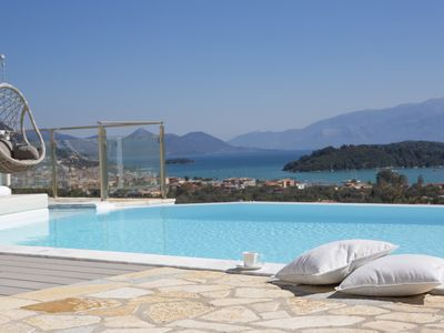 Photo for BRAND NEW Luxury Villa with private pool, panoramic sea views VLICHO near Nidri