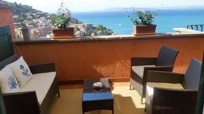 Photo for furnished apartment with a terrace with beautiful sea views