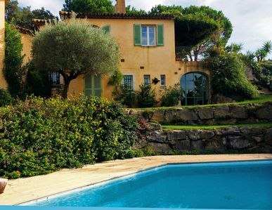 Photo for Saint Tropez peninsula, large villa 50 m from the sea