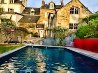 A book, a pool, the beautiful countryside and a great place to stay -- what more could one want.