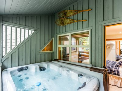 Photo for New Private Hot Tub, Updated Top Floor Family Ski In/Out Townhome Sleeps 6