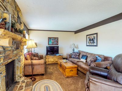 Photo for Skier's paradise w/ mountain views, shared pool, hot tub, & game room - dogs OK!